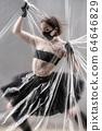 Self-isolation COVID-19 of ballerina in the studio. 64646829