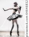 Self-isolation COVID-19 of ballerina in the studio. 64646832