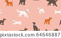 seamless pattern with cute dogs isolated on pink 64646887