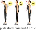 正確的站立姿勢帶字母的男人 64647712