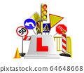 concept of driver school logo road signs traffic 64648668