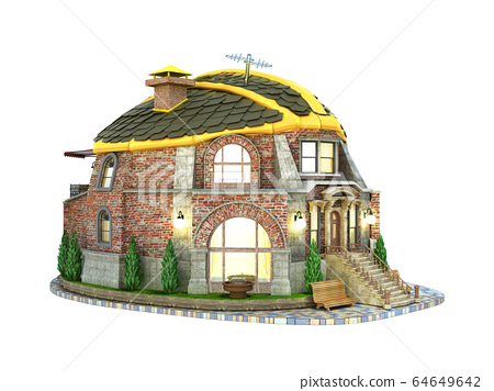 construction concept house in the form of a 64649642