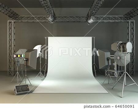 photo studio 3d rendering image 64650091