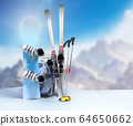concept of winter tourism snowboarding and skiing 64650662