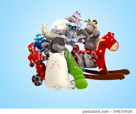 concept of product categories toys 3d render on 64650686