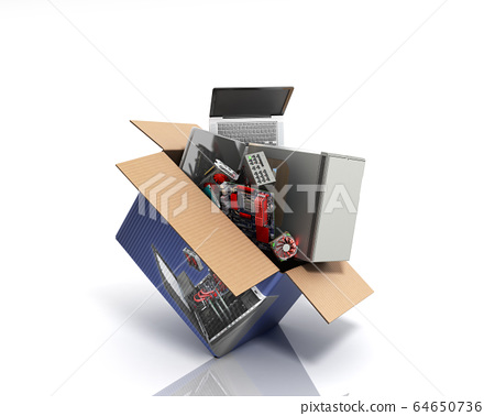 concept of product categories computers and 64650736