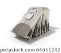 Package of Tea 3d render white background 64651242