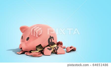 savings spending comcept pink ceramic piggy bank 64651486