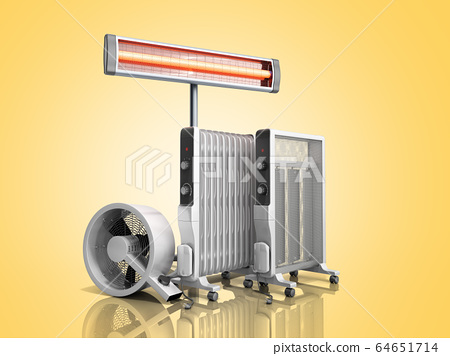 Heating devices Convection fan oil-filled and 64651714