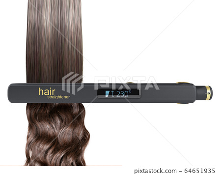 The concept of gentle hair alignment Electric 64651935