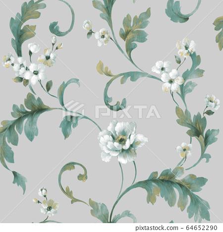 色彩豐富的花卉素材組合和設計元素 64652290