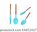 kitchen spoon silicone set 3d render on white 64652427