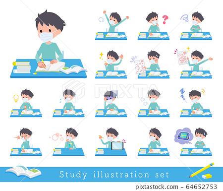 flat type mask blue clothing boy_Study 64652753