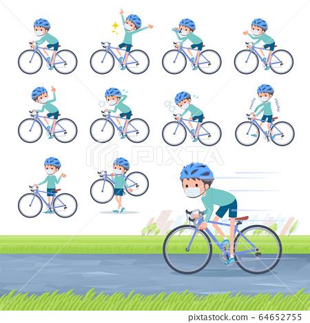 flat type mask blue clothing boy_road bike 64652755