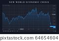 economic crisis panic stock market crash graph 64654604