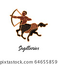 Zodiac sign Sagittarius. The symbol of the astrological horoscope. 64655859