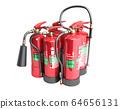 Fire extinguishers isolated on white background 64656131