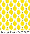 Lemon fruit seamless bright art vector pattern 64658877