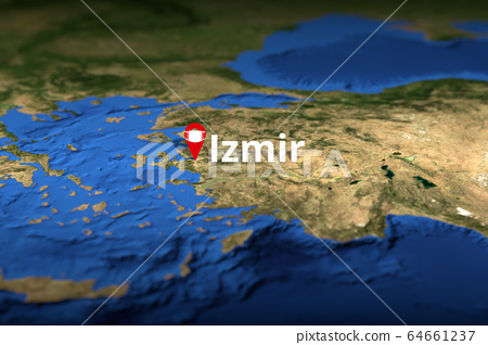 Map of izmir turkey