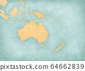 Blank Map of Australasia 64662839