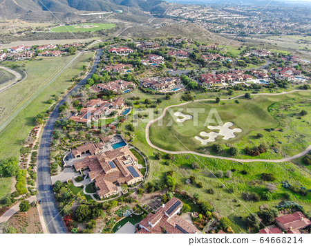Big luxury executive house with pool located next the golf course in a private community, 64668214