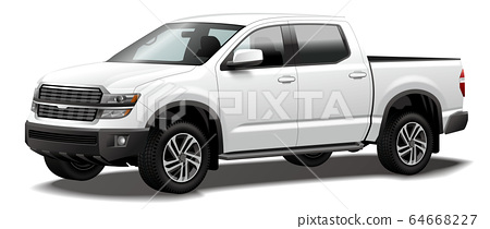 Car illustration pickup truck pickup truck commercial vehicle original design 64668227