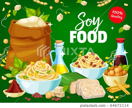 Organic natural eco soy and soybean food products 64672114