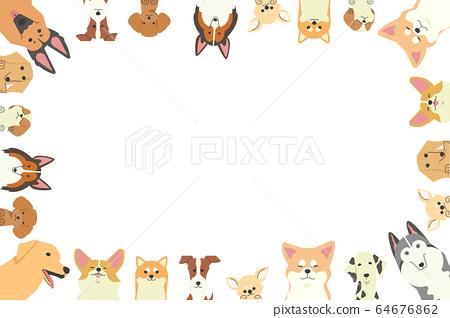 各種狗的爪子騎著的框架 64676862