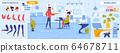 Romantic Atmosphere in Office People Creation Kit 64678711