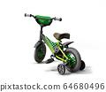 black kids bike on white background 64680496