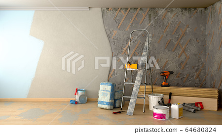 apartment repair concept repair tools and 64680824