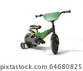 black kids bike on white background 64680825
