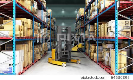 Hangar delivery warehouse 3d render image 64680892