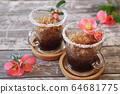 Coffee granita, frozen summer dessert in two cups 64681775