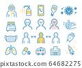 Coronavirus related illustrations 64682275