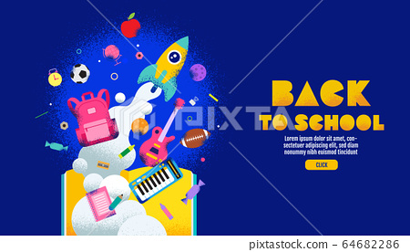 back to school sale banner, poster, design layout 64682286