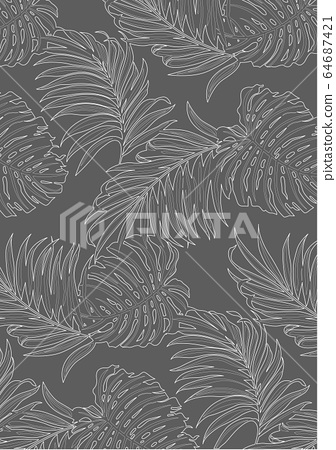 White Lines Pattern Of Tropical Leaves Pattern Stock Illustration 64687421 Pixta It's the tropical leaves earrings. pixta