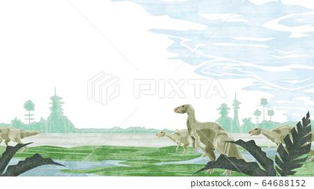 鬣蜥走過濕地 64688152