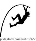 woman athlete pole vaulter 64689927