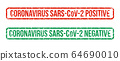 Rubber stamps designating positive or negative reactions of analyzes to SARS-CoV-2 64690010