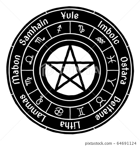 The Wheel of the Year. Cycle of festivals. Wiccan, 64691124