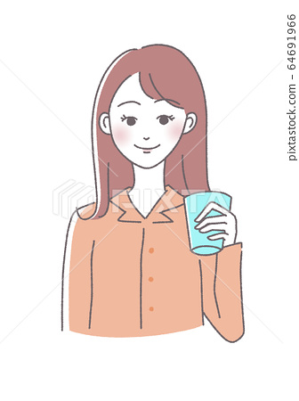 Woman with morning cup 64691966