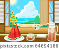 Summer feature watermelon barley tea 64694188