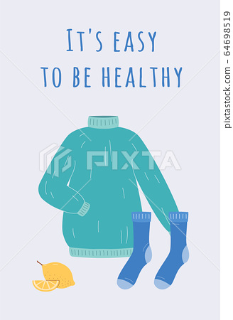 Home virus infection and flu disease treatment banner flat vector illustration. 64698519