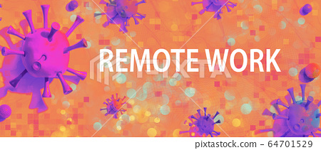 Remote Work theme with viral objects 64701529