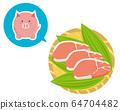 Pork pork loin thick slices 64704482