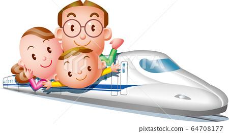 家庭旅行N700系列新幹線出行 64708177