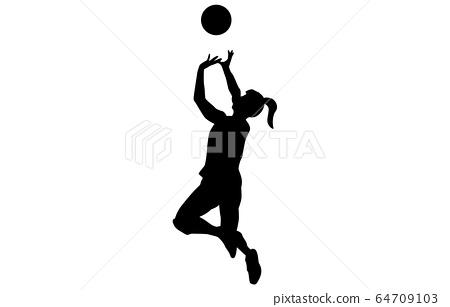 運動剪影排球10 64709103