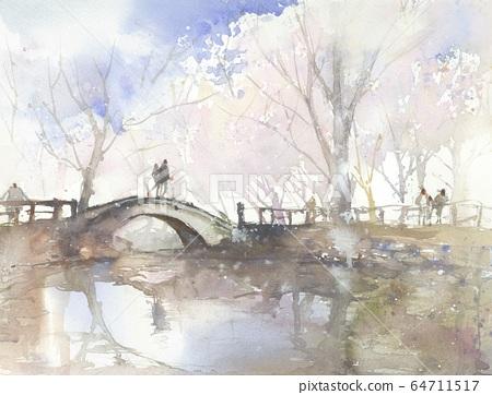조롱박 연못의 봄 64711517