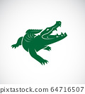 Vector of crocodile design on white background. 64716507